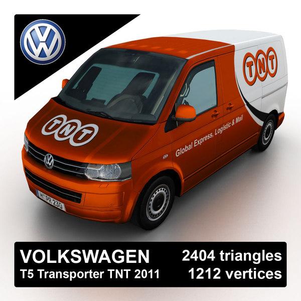 Volkswagen T5 Transporter TNT 2011 3D Models