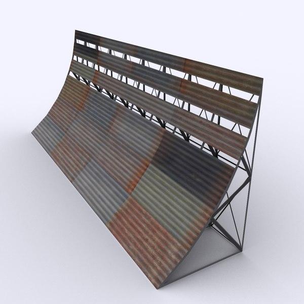 Airport Blast Fence 3D Models