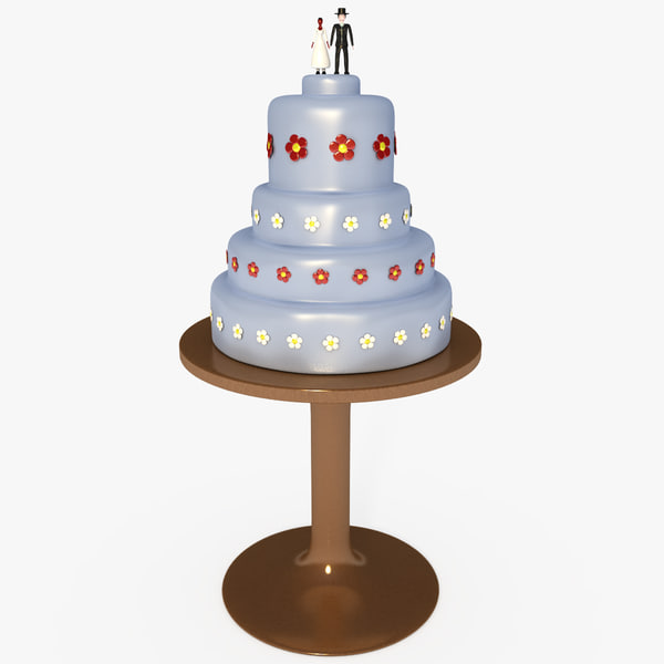 Customizable Wedding Cake 3D Models