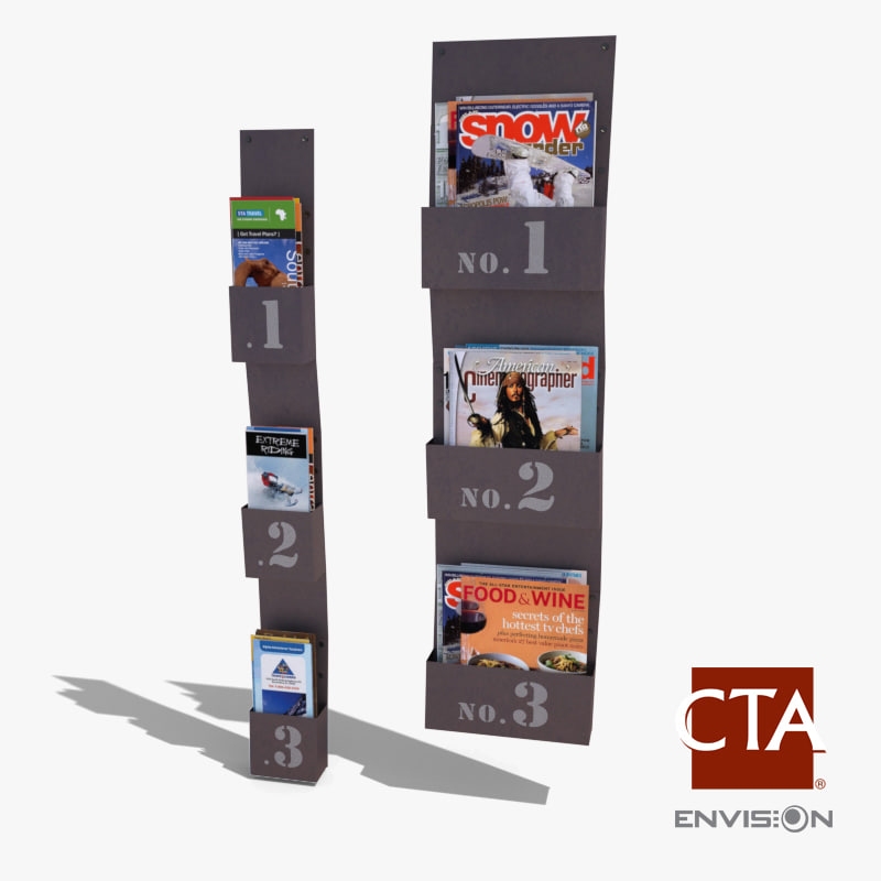 Magazine & Brochure Rack