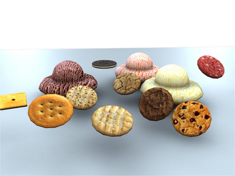 Low Poly Cookies & Ice Cream