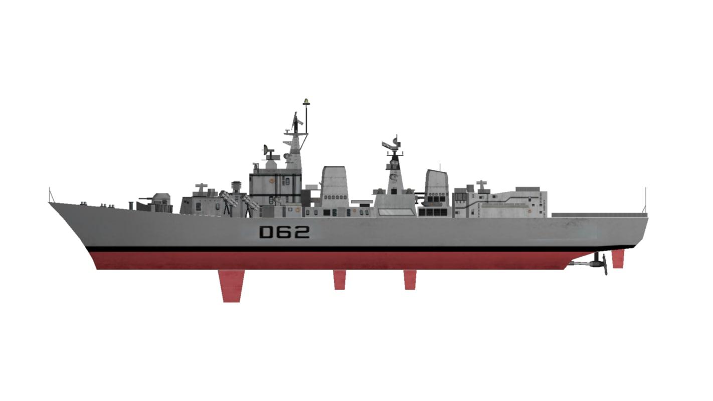 INS Mumbai Class Destroyer Indian Navy -  Low Polygon