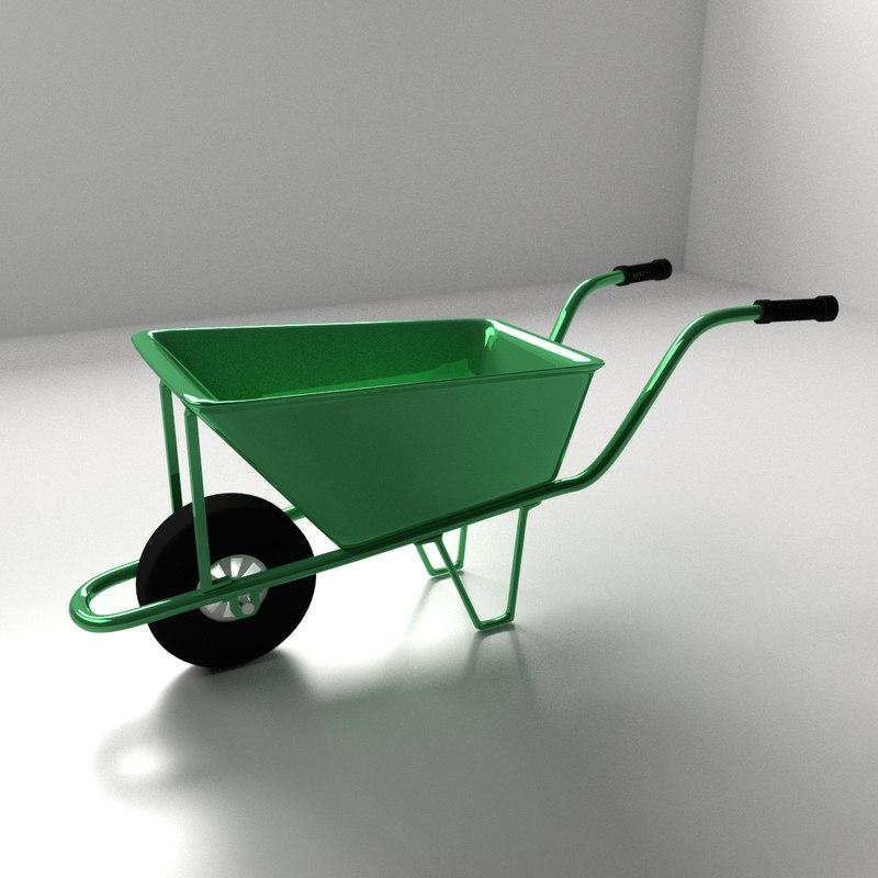 3ds wheelbarrow wheel barrow