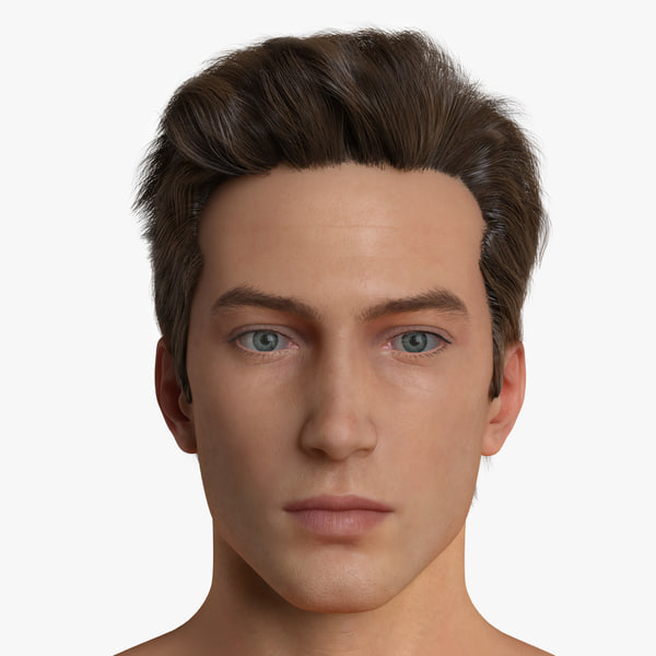 Realistic Man Mark Texture Maps