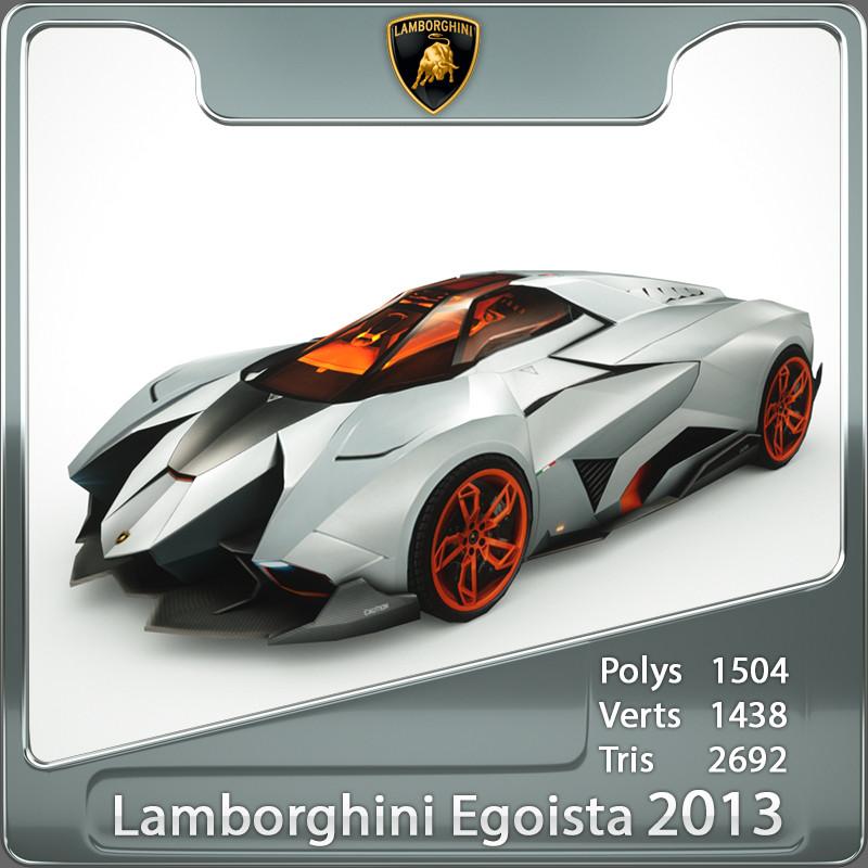 Newest Lamborghini Egoista: 3d Lamborghini Egoista Model