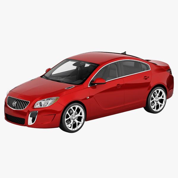 Buick Regal 2014 3D Models