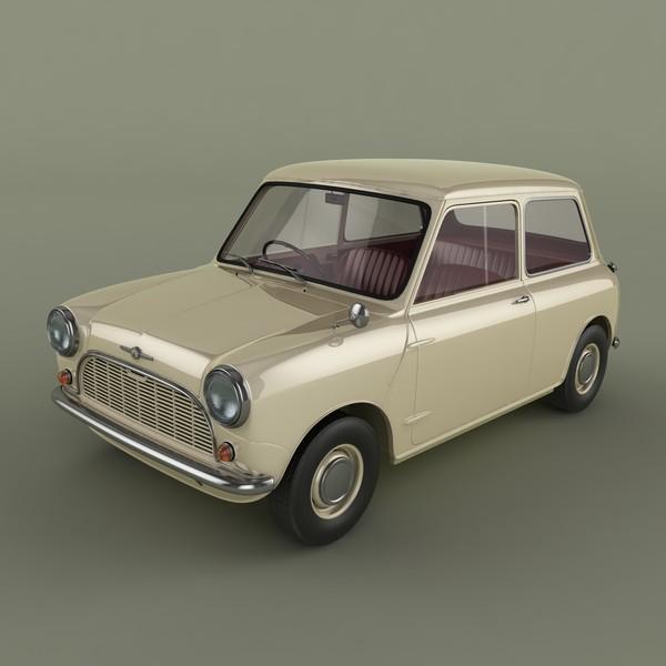 Morris Mini Minor 1959 3D Models