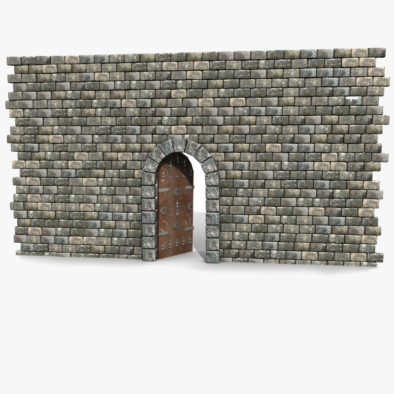 Stone Block Brick Wall Door Hole Enter Entry Hole Castle Passage ornament decorative ornamental plank arch arc fort stronghold fortress