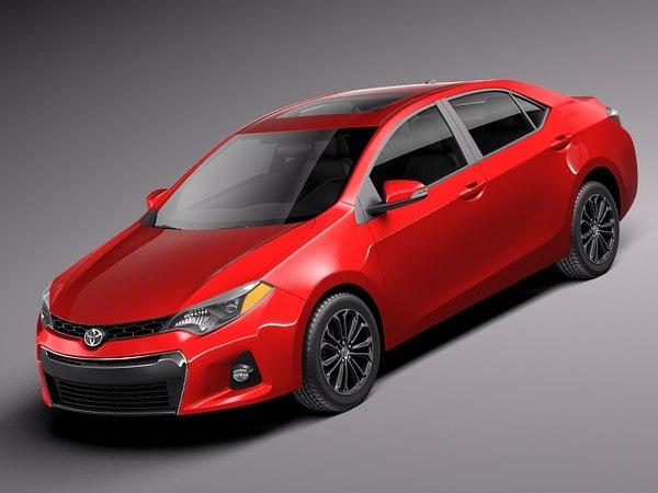 Toyota Corolla S 2014 USA 3D Models
