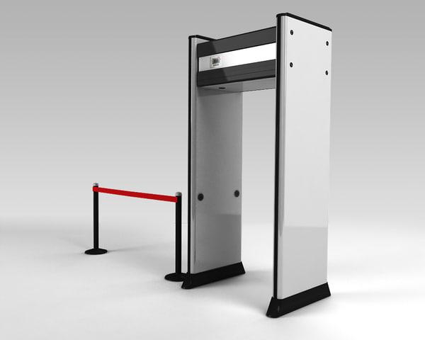 Metal Detector gate 3D Models