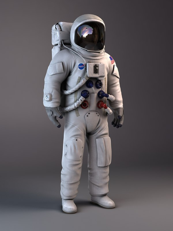 NASA Astronaut Apollo 11 rigged for 3dsmax