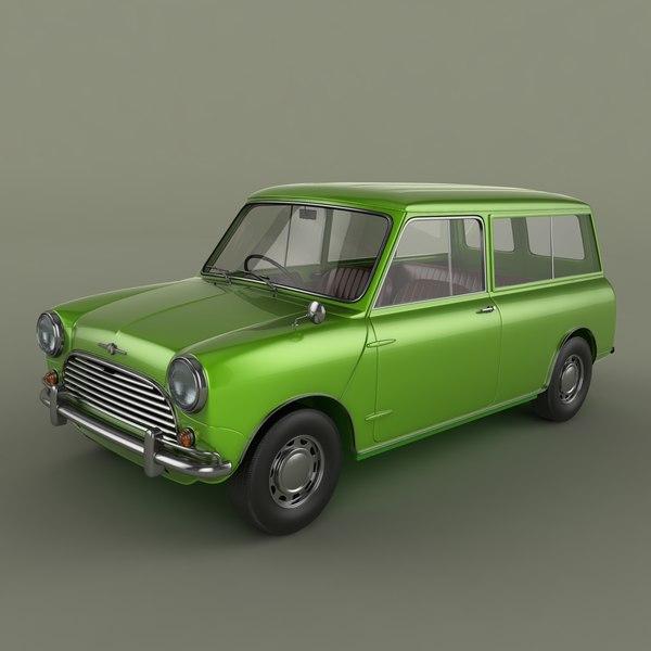 Morris Mini Minor Traveller 3D Models