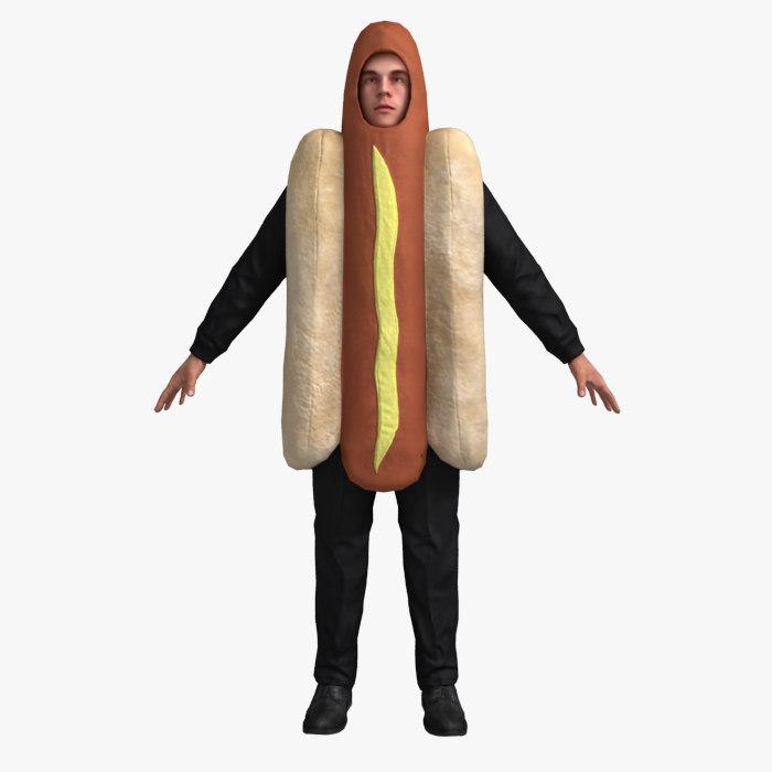 Hotdog Suit (Not Rigged)
