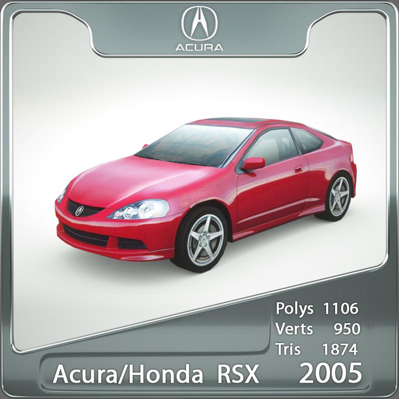 3ds Max 2005 Acura Honda Rsx