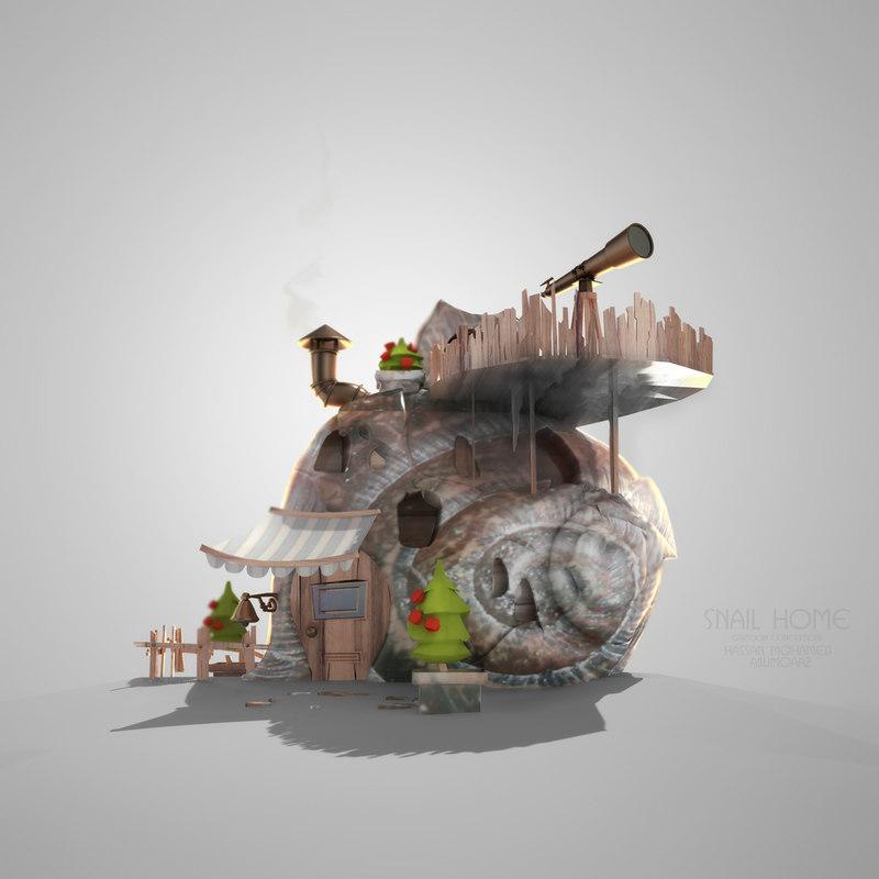 Cartoon Snile Home