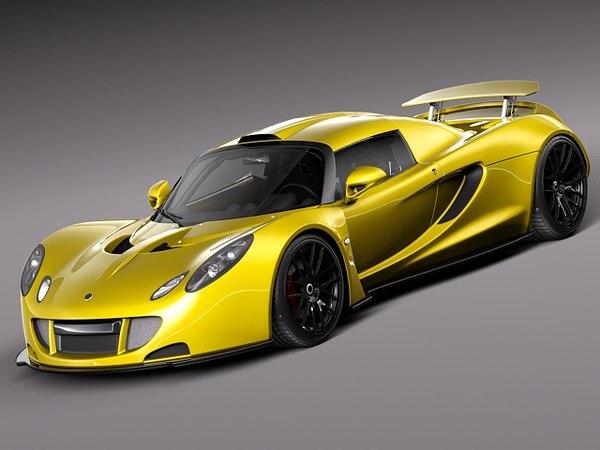 Hennessey Venom GT 2012 3D Models