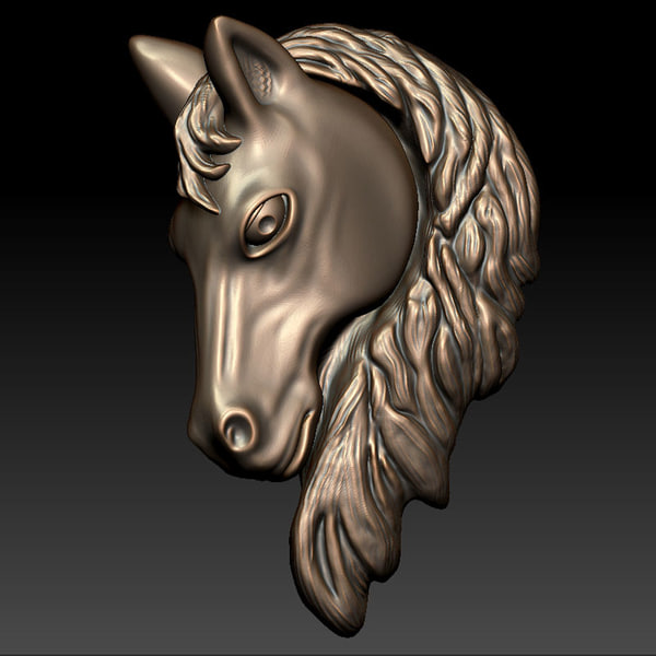 Horse Head Relief 3D Models
