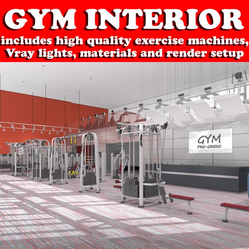 Gym Interior Scene