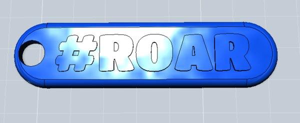 Roar Keychain 3D Models