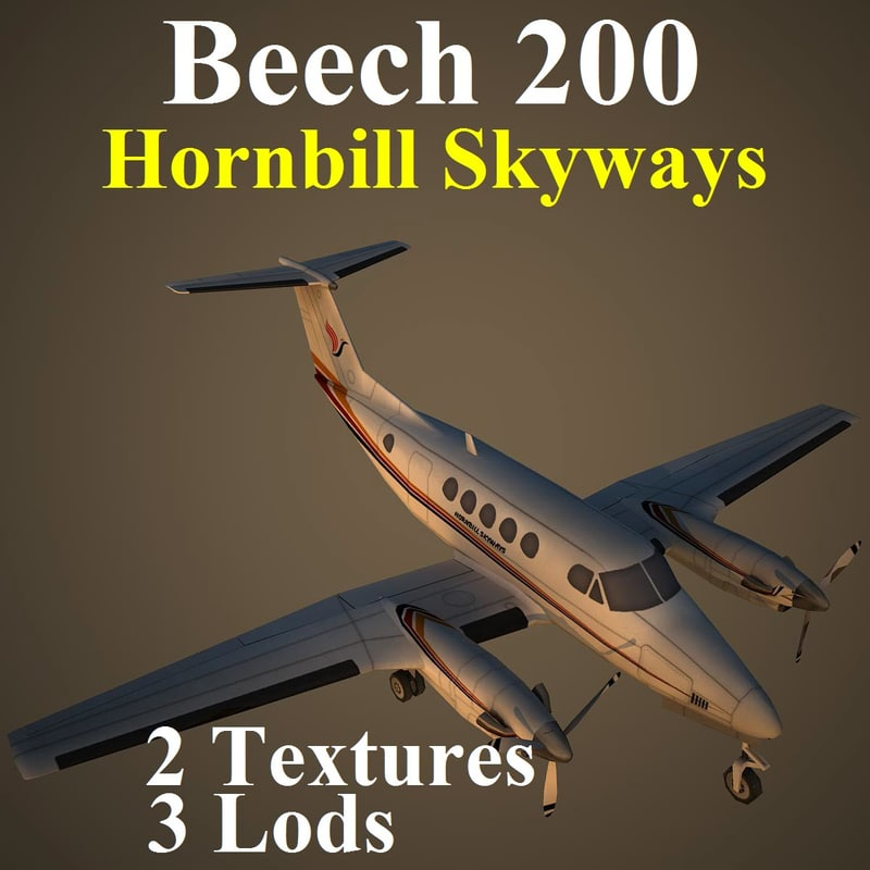 beech hbs 3d model