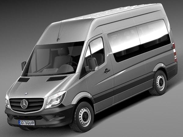 Mercedes-Benz Sprinter Passenger Van 2014 3D Models