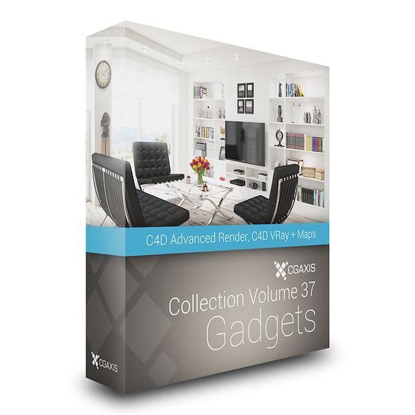 CGAxis Models Volume 37 Gadgets C4D 3D Models