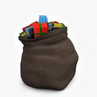 Santa Bag 3D models