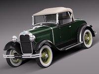 Ford Model A 3D models