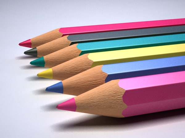Colour Pencils 3D Models