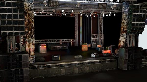 Concert stage 3D Models