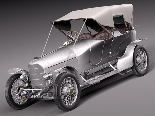 Austro Daimler Prince Henry 1910 3D Models