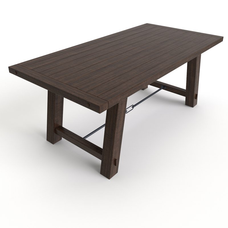 Free dining table benchwright fixed 3d model for Table 6 fixed costs