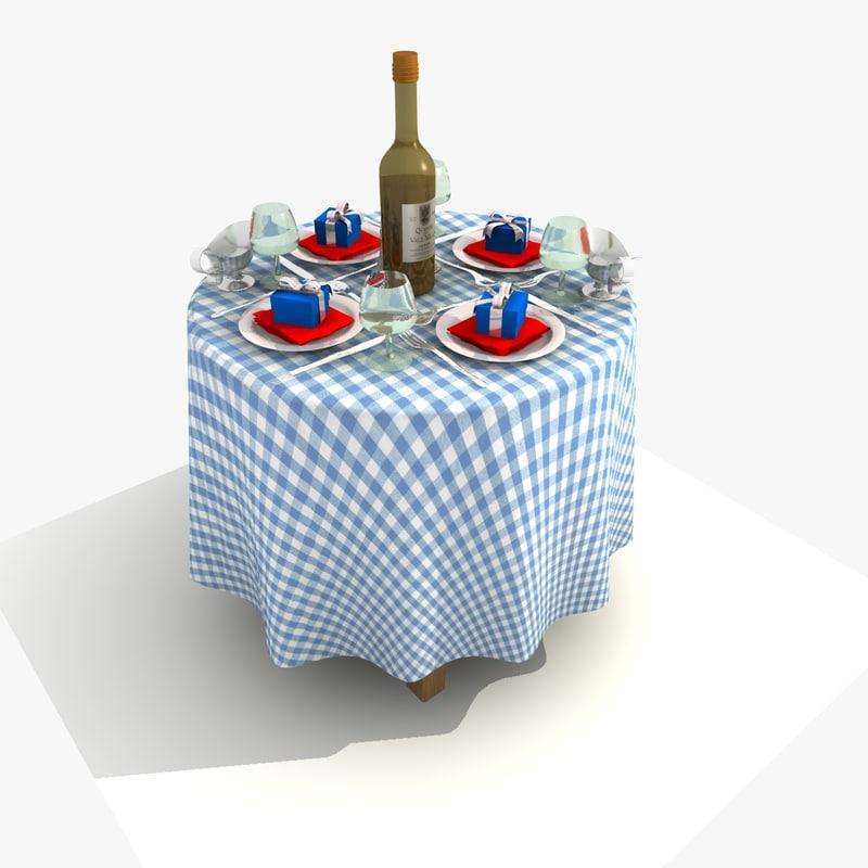 Blue Restaurant Round Table