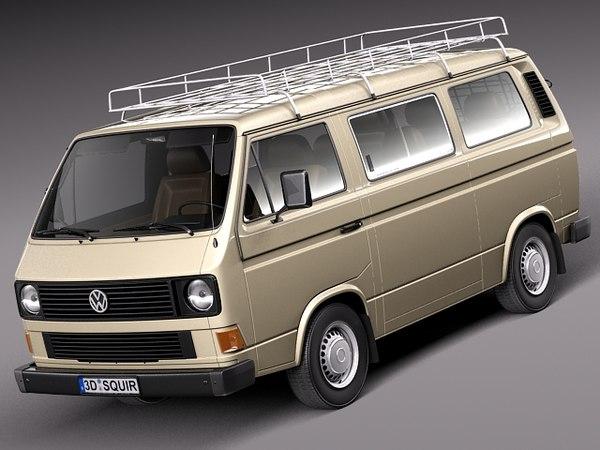 Volkswagen T3 Passenger 1979-1988 3D Models