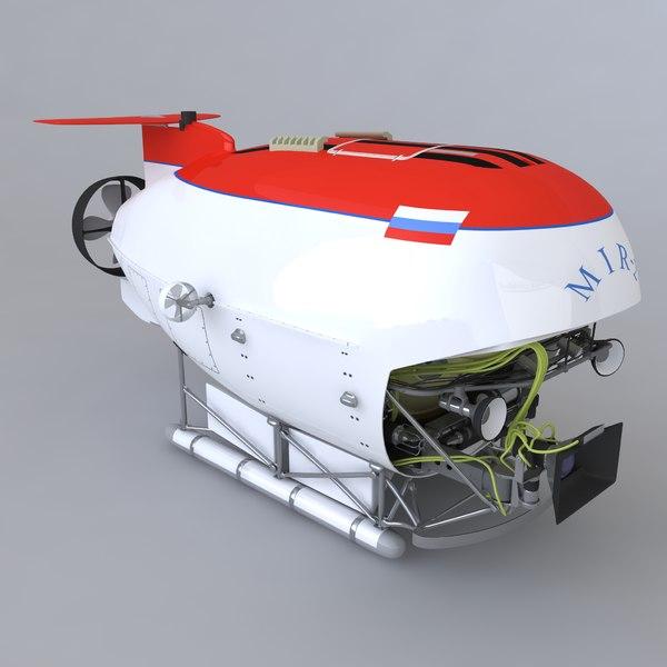 Submarine mir-2 3D Models