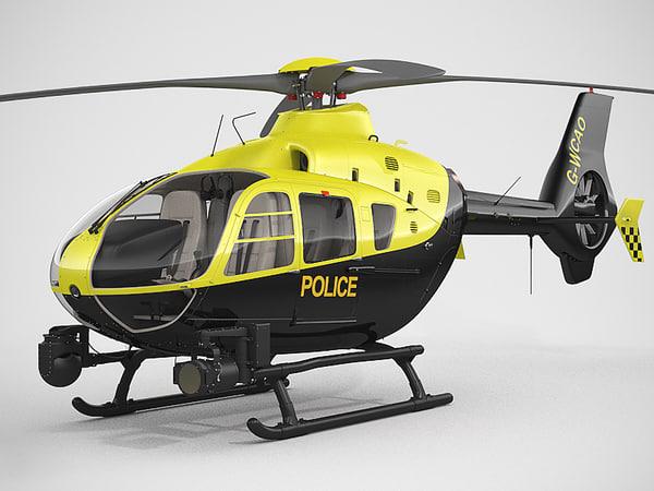 Eurocopter EC135 Police 3D Models