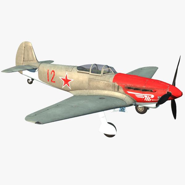 Yakovlev Yak-9 Soviet World War II Fighter 3D Models