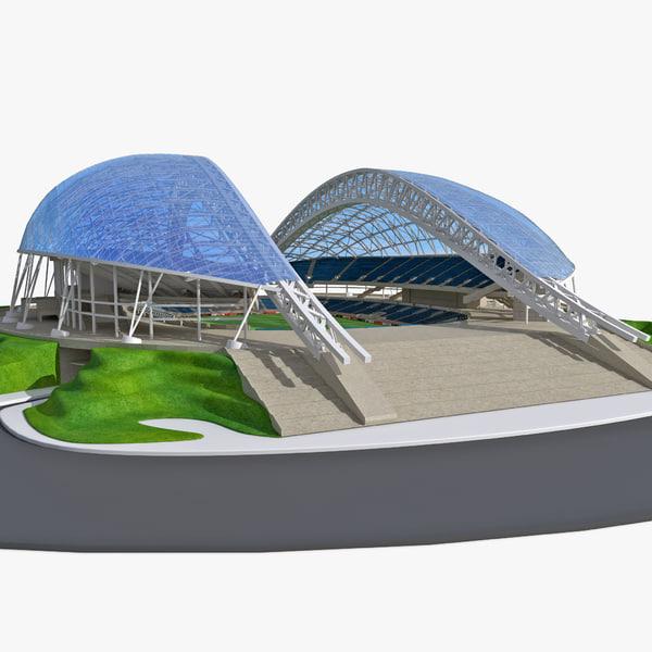 Sochi Fisht Olympic Stadium 3D Models