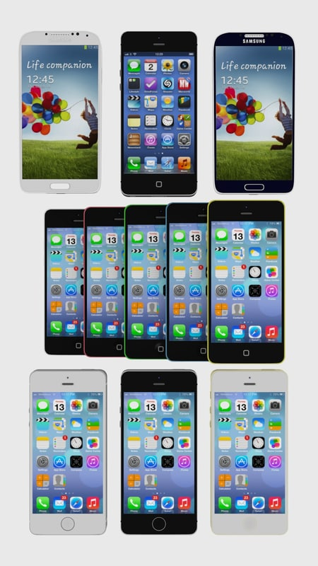 Modern phone collection