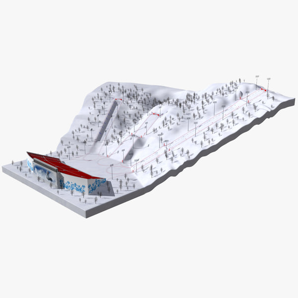 Olympic Mogul Course Sochi 3D Models