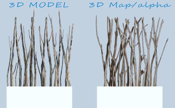 Driftwood screen 3D Models