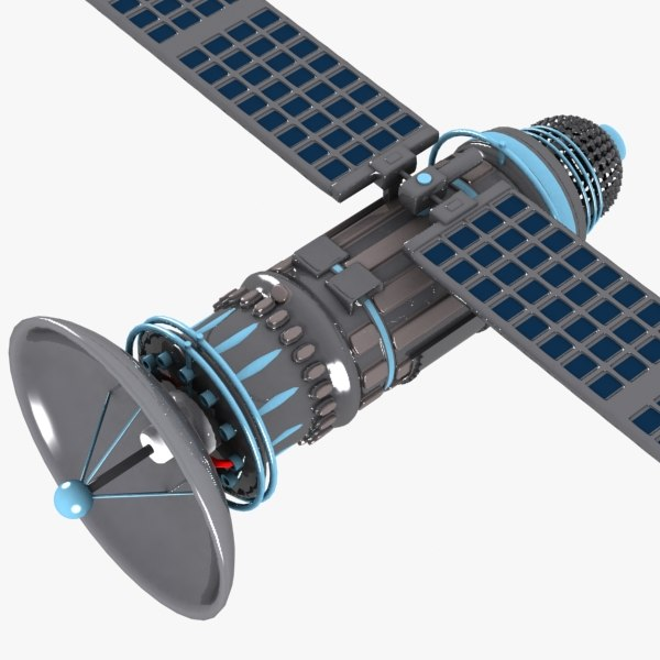 Cartoon Satellite 3D Models