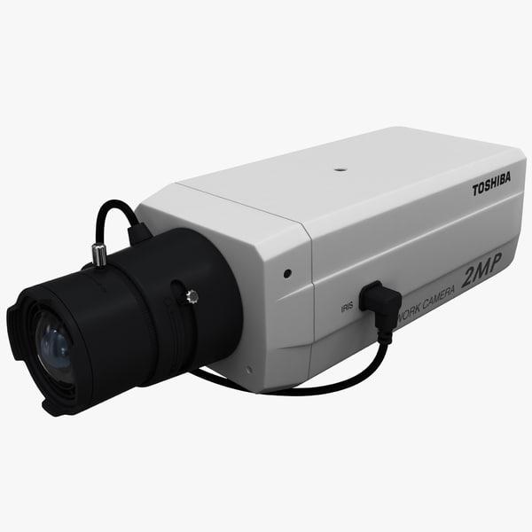IP Network Camera Toshiba IK-WB30A 3D Models