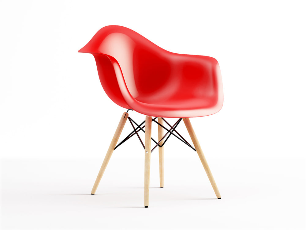 eames plastic armchair daw 3d max. Black Bedroom Furniture Sets. Home Design Ideas