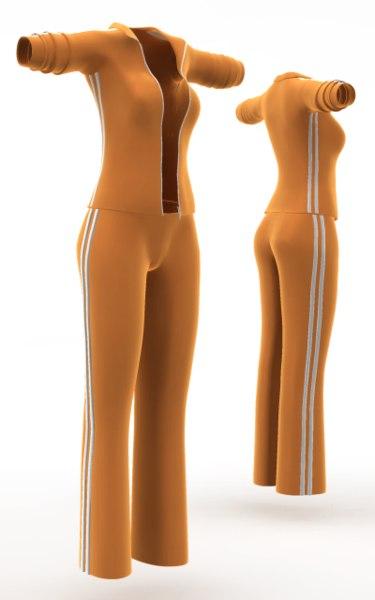 Tracksuit (cloth simulation). 3D Models