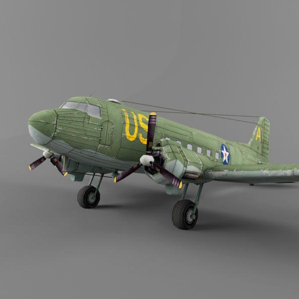 Douglas C-47 3D Models