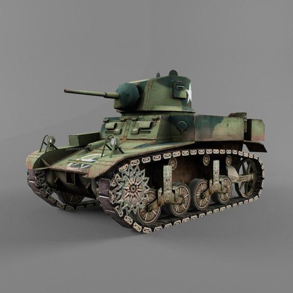 M3 Stuart 3D Models