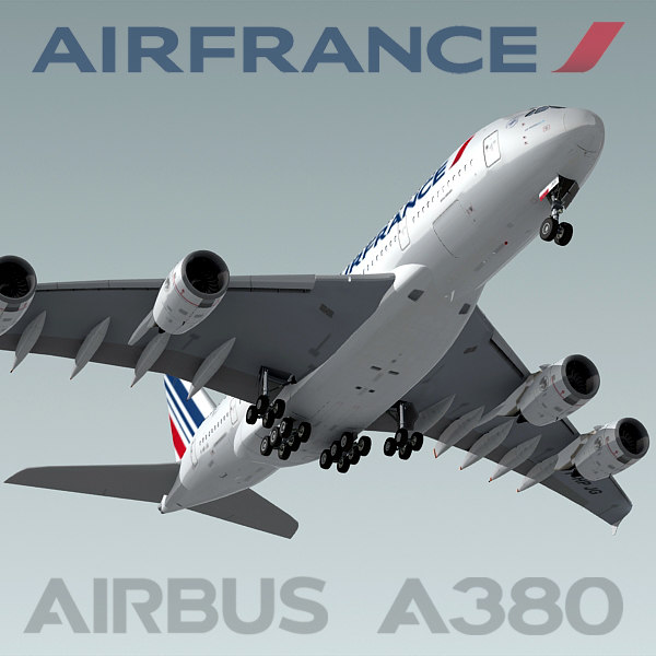 Airbus A380 Air France 3D Models
