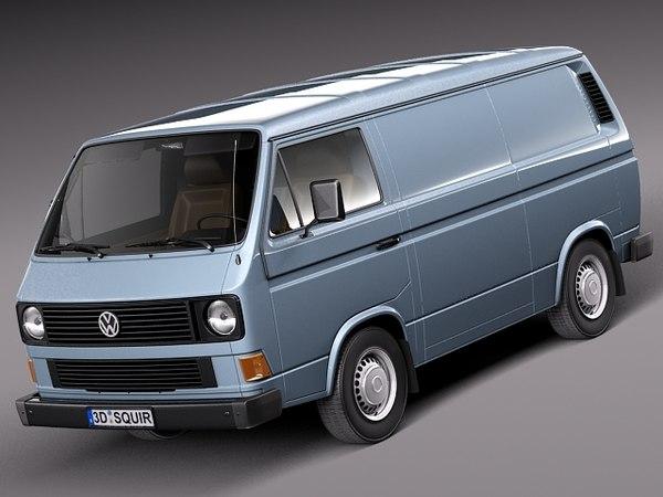Volkswagen T3 Van 1979-1988 3D Models