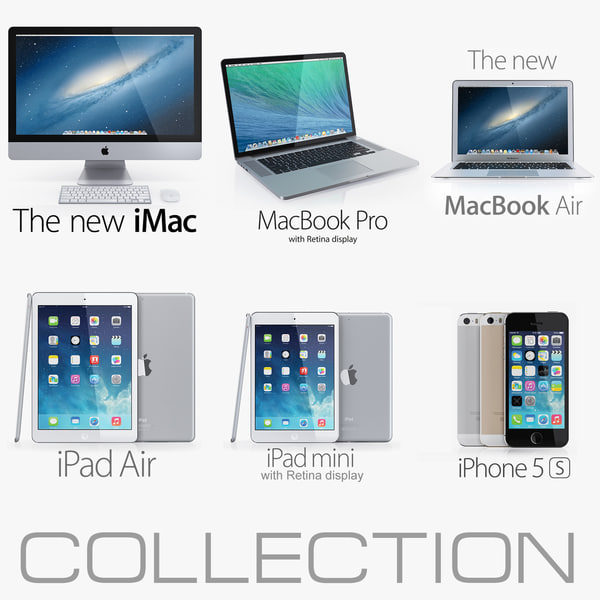 Apple electronics collection 2014 v1 3D Models